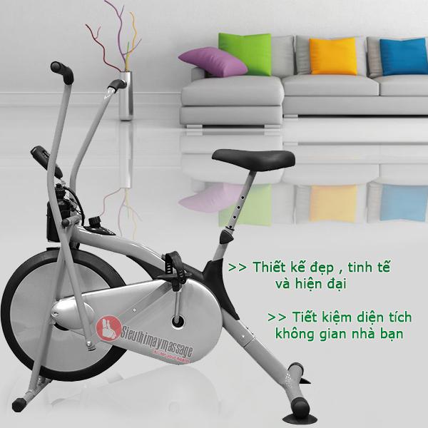 xe dap sport air bike 1 - So sánh dòng xe đạp tập có yên và không có yên