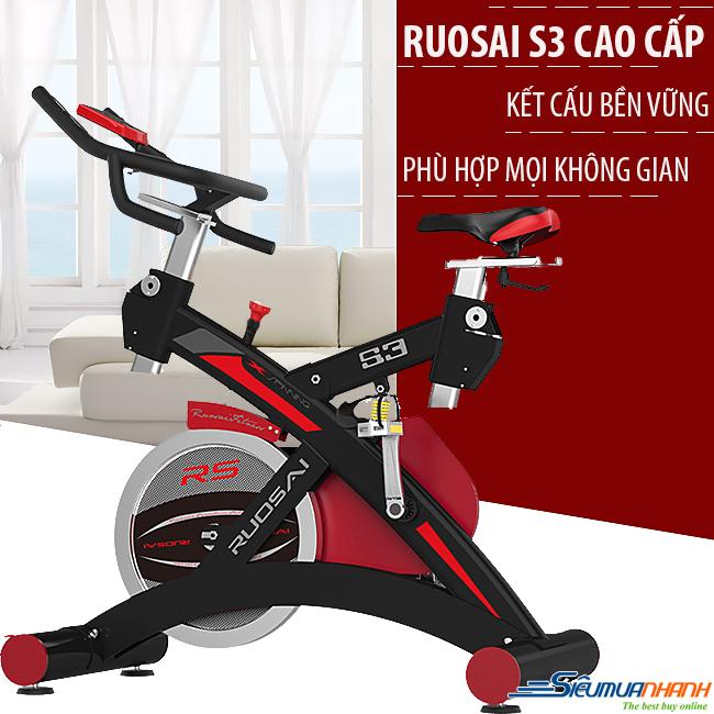 xe dap tap ruosai s3 1 - Xe đạp tập cao cấp Ruosai S3