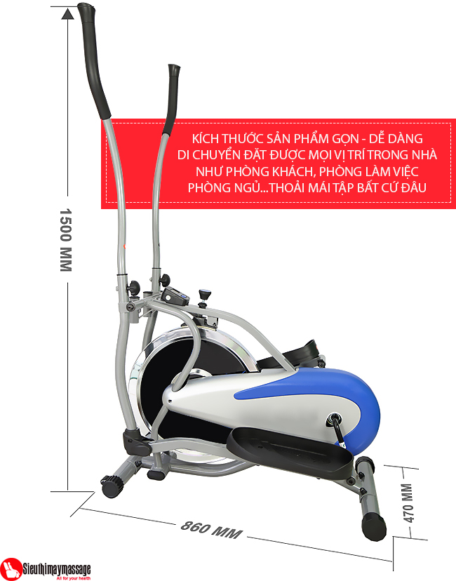 may tap tong hop new Orbitrack 3 - Máy tập xe đạp tổng hợp New Orbitrack