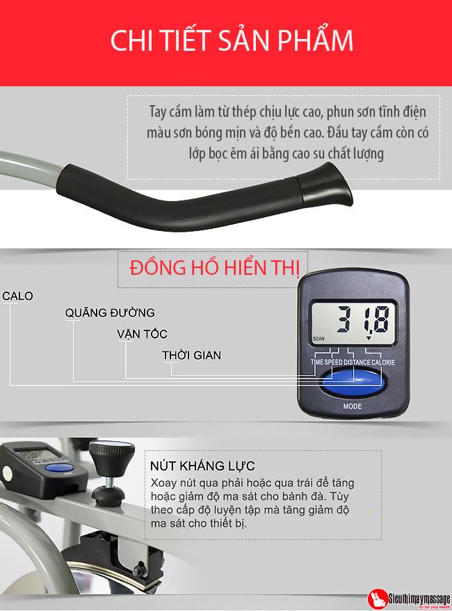 may tap tong hop new Orbitrack 4 - Máy tập xe đạp tổng hợp New Orbitrack
