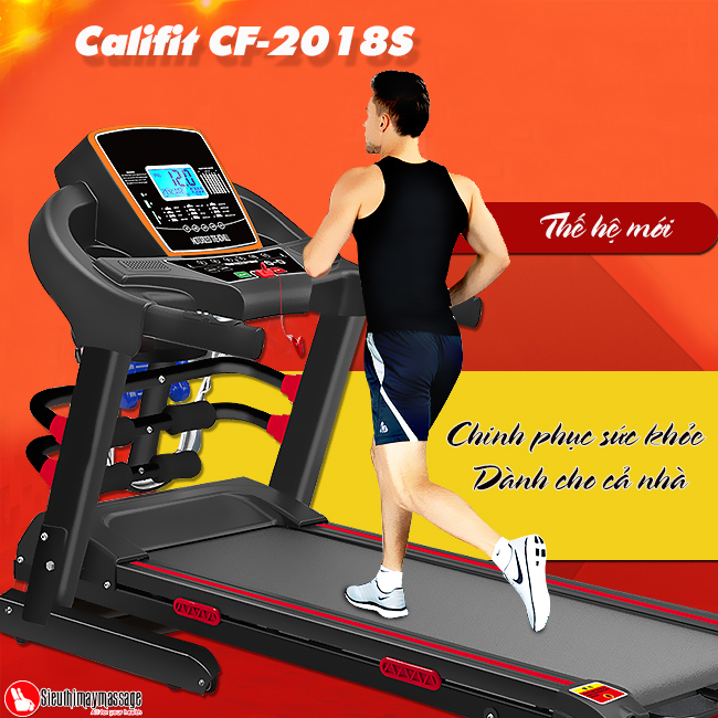 may chay bo califit cf 2018 s 1 - Máy chạy bộ đa năng Califit CF-2018S (thế hệ mới)
