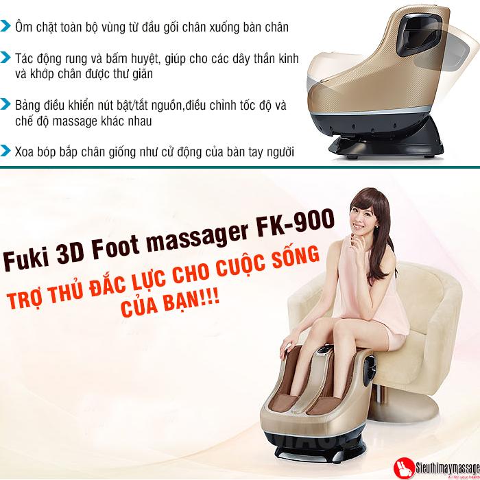 may massage chan va bap chan Fuki 3 D Foot massager FK 900 2 - Máy mát xa chân và bắp chân Fuki 3D Foot massager FK-900