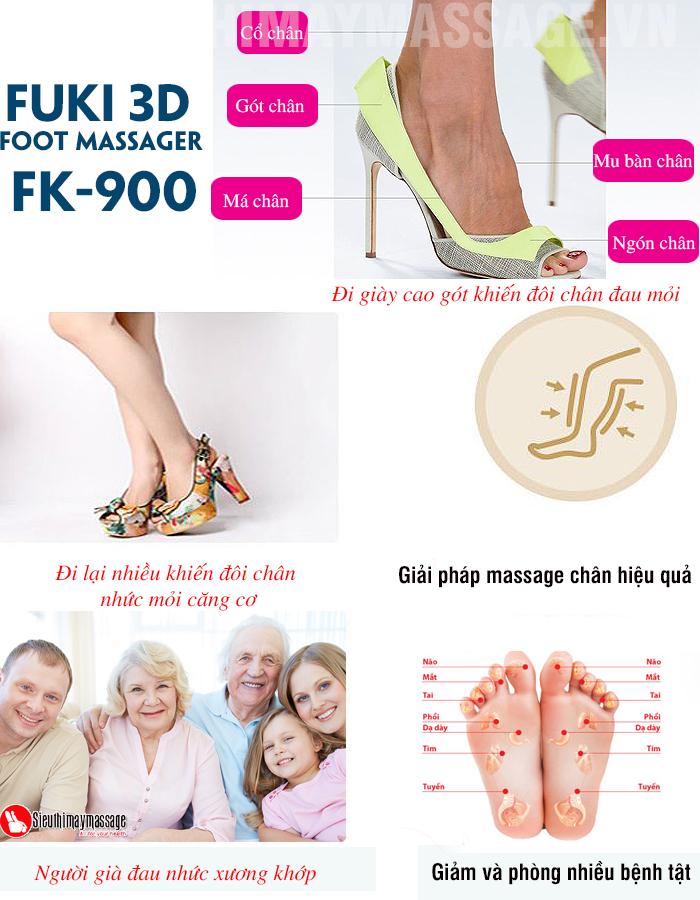 may massage chan va bap chan Fuki 3 D Foot massager FK 900 8 - Máy mát xa chân và bắp chân Fuki 3D Foot massager FK-900
