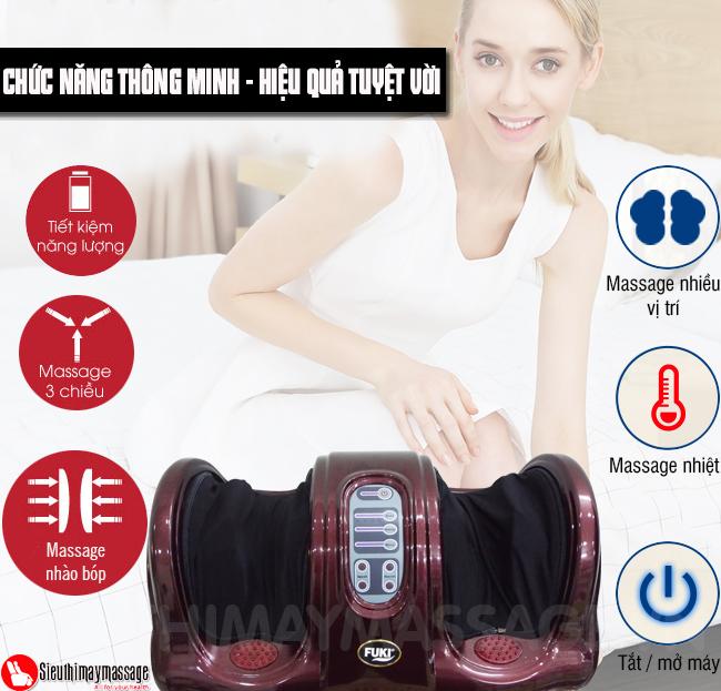 may massage chan hong ngoai Fuki FK 6811 9 - Máy massage chân hồng ngoại Fuki Nhật Bản FK-6811