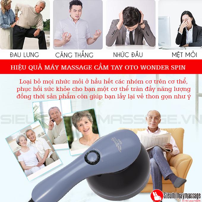 may massage cam tay oto wonder spin 2 - Máy massage cầm tay OTO Wonder SPIN WS-900