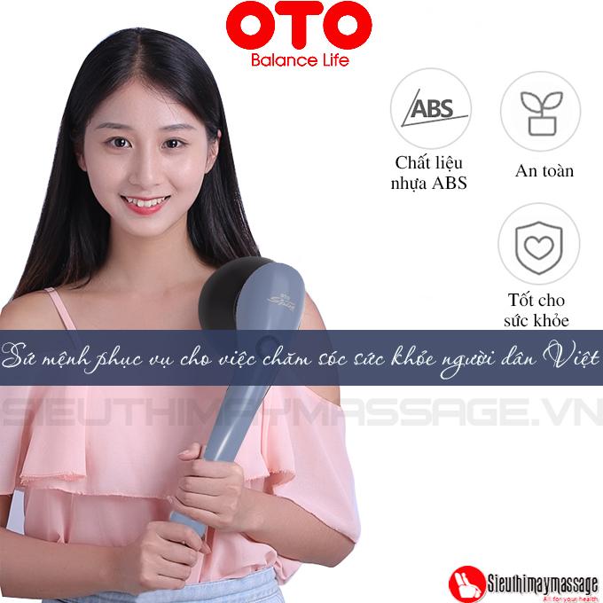 may massage cam tay oto wonder spin 8. - Máy massage cầm tay OTO Wonder SPIN WS-900