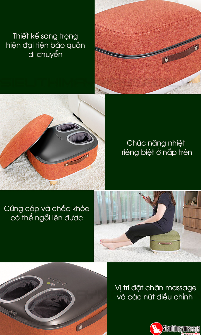 may massage chan OTO QS 88 mau cam 10 - Máy massage chân QSeat OTO QS-88 (màu cam)