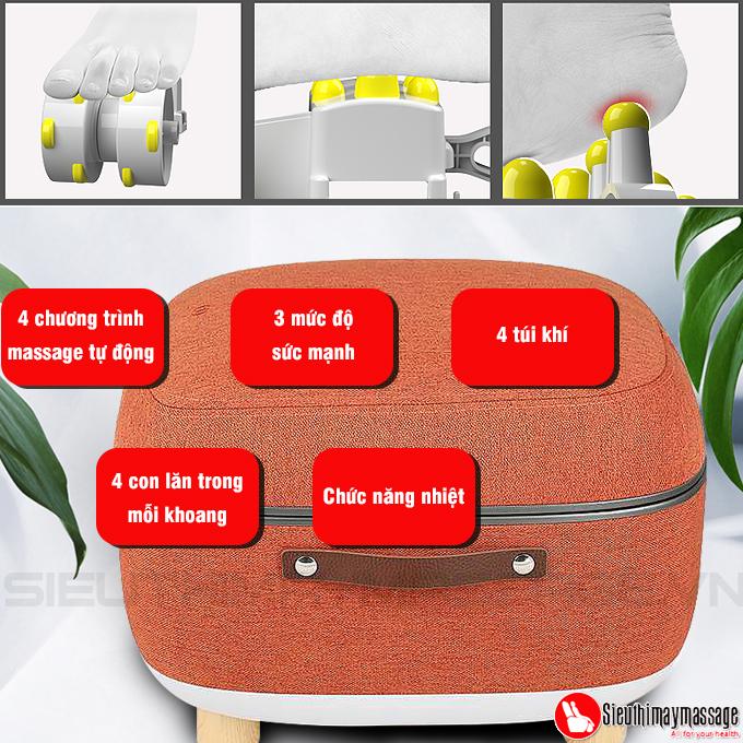 may massage chan OTO QS 88 mau cam 11 - Máy massage chân QSeat OTO QS-88 (màu cam)
