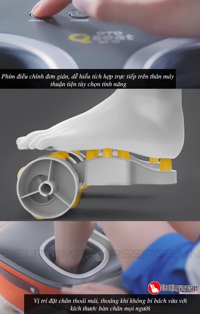 may massage chan OTO QS 88 mau cam 12 - Máy massage chân QSeat OTO QS-88 (màu cam)