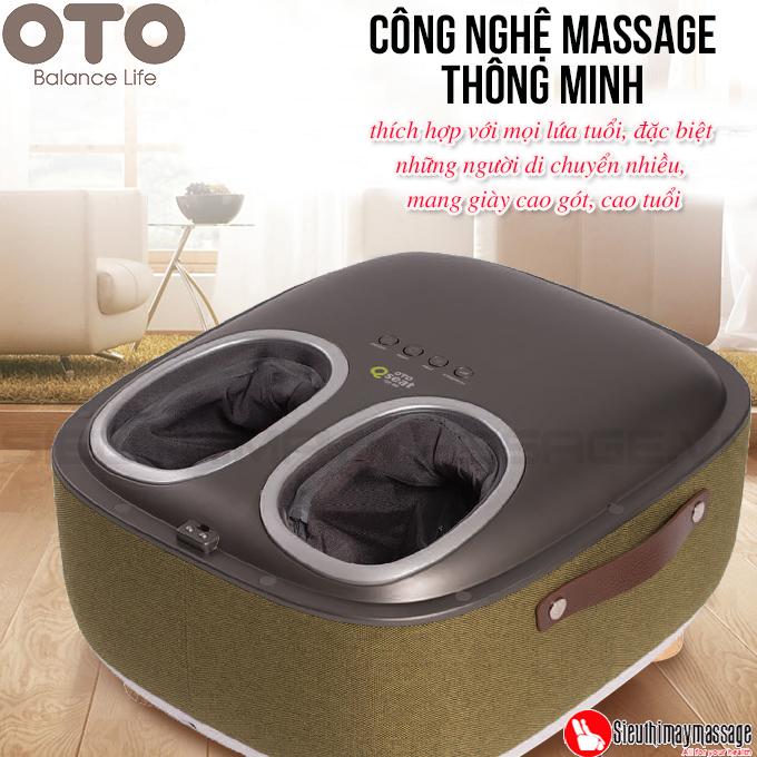 may massage chan OTO QS 88 mau xanh 3 - Máy massage chân QSeat OTO QS-88 (màu xanh)