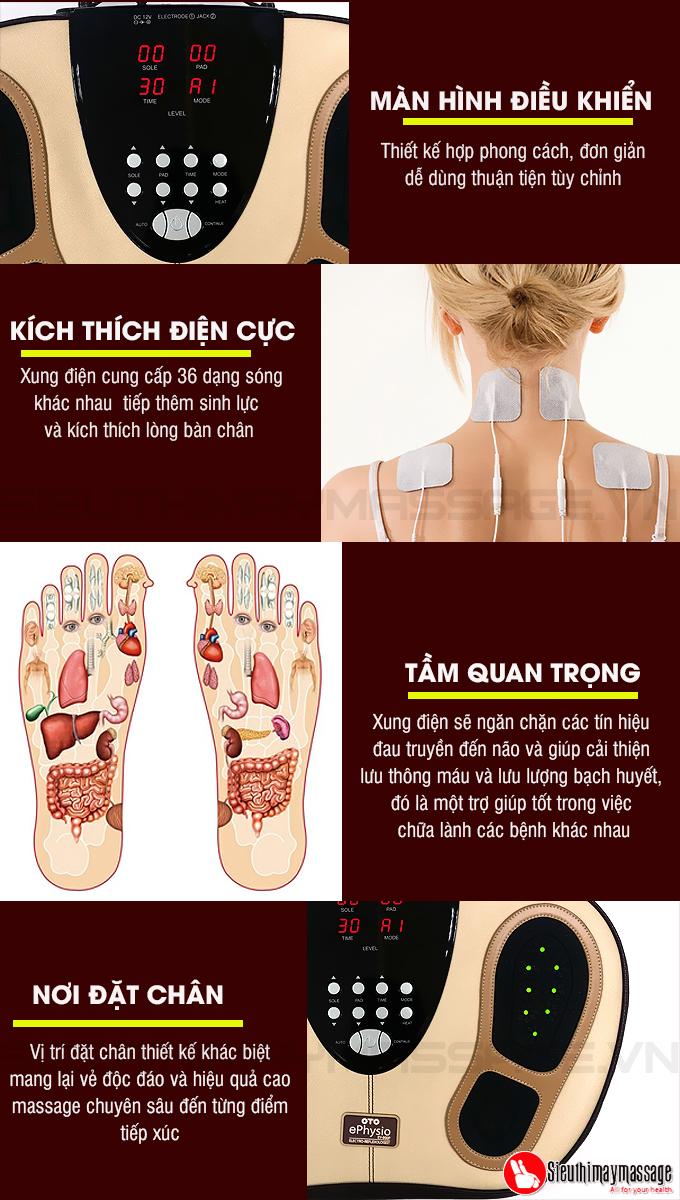 may massage chan Oto e physio 7 - Máy massage chân trị liệu e-Physio Plus OTO EY-900P (Hàn Quốc)