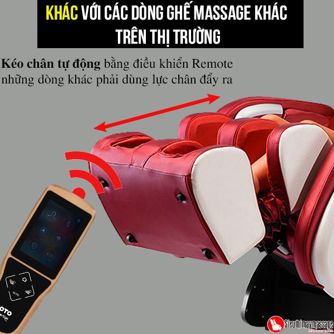 ghe massage toan than OTO Essentia ES 05 A 10 - Ghế massage toàn thân OTO Essentia ES-05A (màu đỏ)