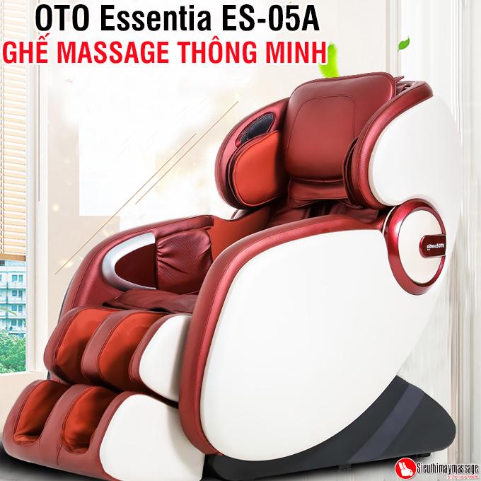 ghe massage toan than OTO Essentia ES 05 A 2 - Ghế massage toàn thân OTO Essentia ES-05A (màu đỏ)