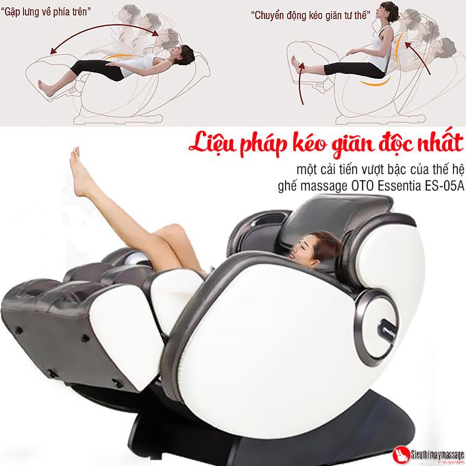 ghe massage toan than OTO Essentia ES 05 den 11 - Ghế massage toàn thân OTO Essentia ES-05A (màu xám)
