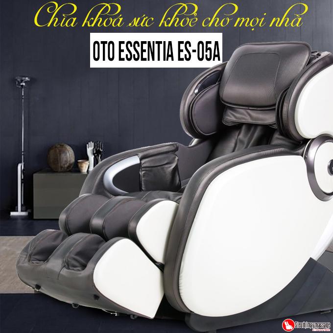 ghe massage toan than OTO Essentia ES 05 den 2 - Ghế massage toàn thân OTO Essentia ES-05A (màu xám)
