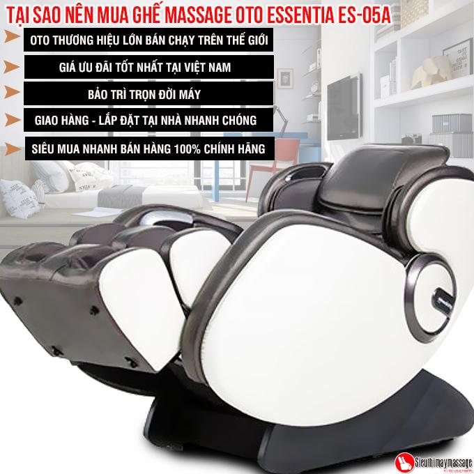 ghe massage toan than OTO Essentia ES 05 den 5 - Ghế massage toàn thân OTO Essentia ES-05A (màu xám)