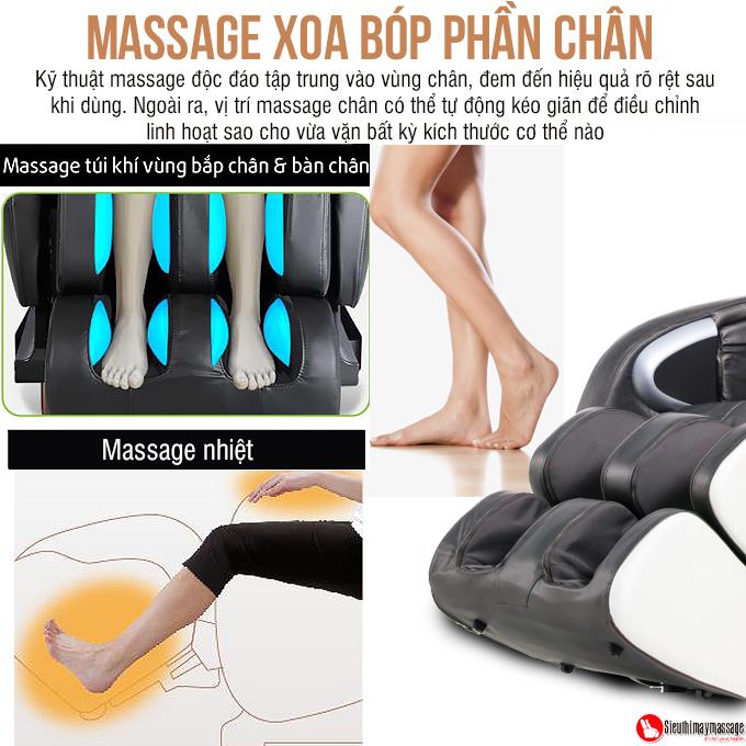 ghe massage toan than OTO Essentia ES 05 den 9 - Ghế massage toàn thân OTO Essentia ES-05A (màu xám)