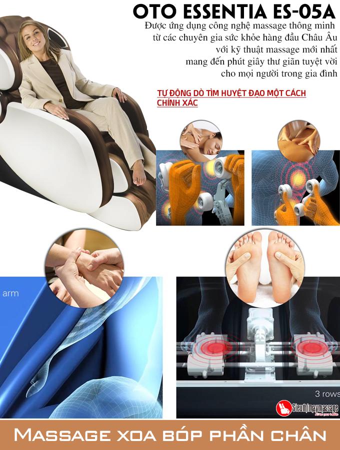 ghe massage toan than OTO Essentia ES 05 nau 4 - Ghế massage toàn thân OTO Essentia ES-05A (màu đồng)