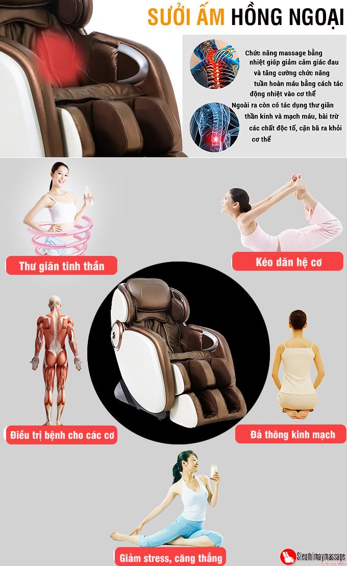 ghe massage toan than OTO Essentia ES 05 nau 7 - Ghế massage toàn thân OTO Essentia ES-05A (màu đồng)