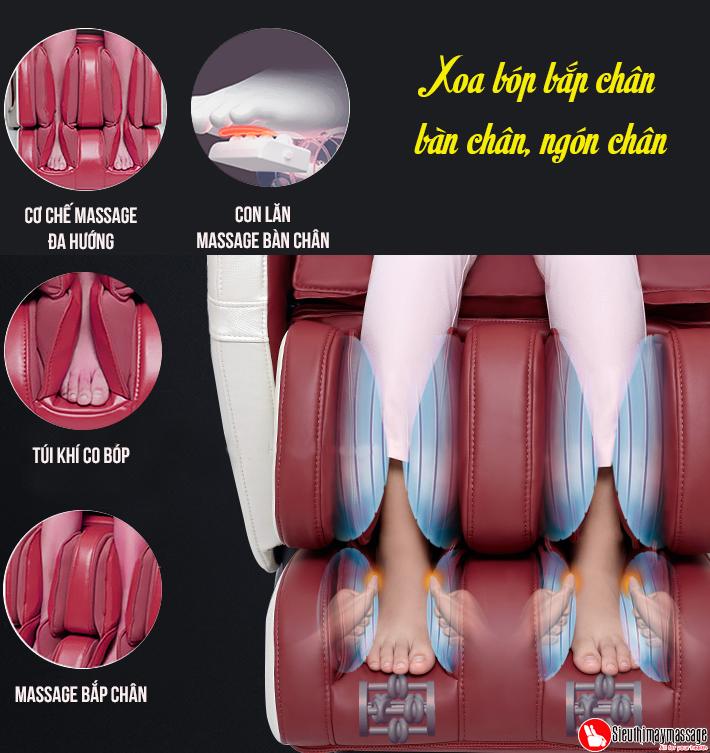 ghe massage toan than oto pe 09 kim cuong hong 5 - Ghế massage toàn thân OTO Prestige Swarovski PE-09 (Red - đính hạt pha lê)