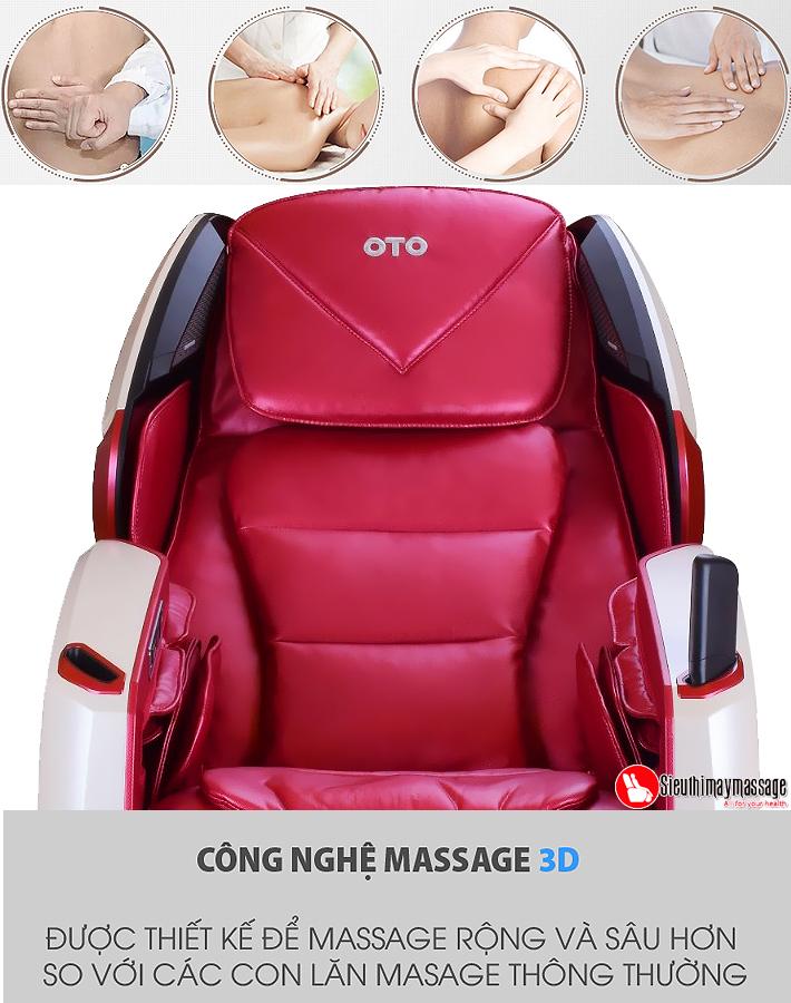 ghe massage toan than oto pe 09 kim cuong hong 8 - Ghế massage toàn thân OTO Prestige Swarovski PE-09 (Red - đính hạt pha lê)
