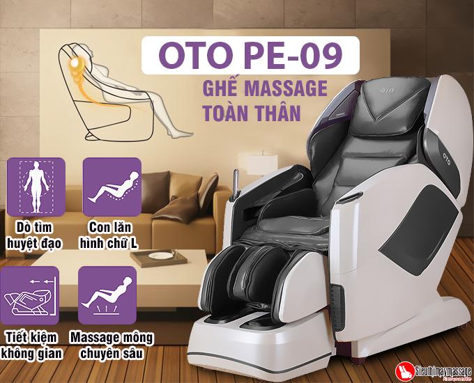 ghe massage toan than oto pe 09 xam 3 - Ghế massage toàn thân OTO Prestige PE-09 (màu xám)