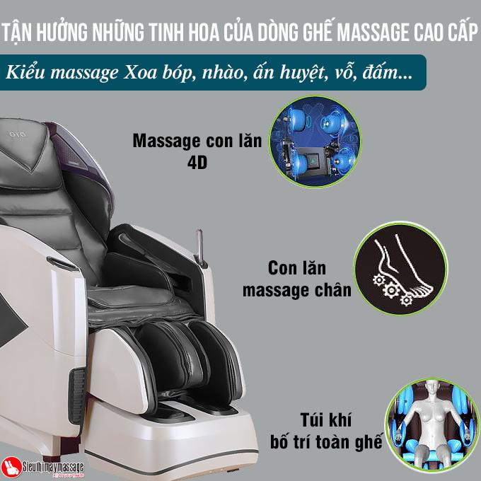 ghe massage toan than oto pe 09 xam 5 - Ghế massage toàn thân OTO Prestige PE-09 (màu xám)