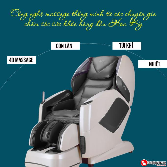 ghe massage toan than oto pe 09 xam 6 - Ghế massage toàn thân OTO Prestige PE-09 (màu xám)