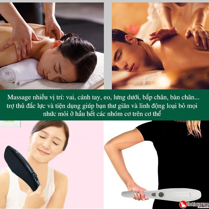 may massage cam tay oto Torch 3 - Máy massage cầm tay OTO TR-150 (Pin sạc) - Màu đen