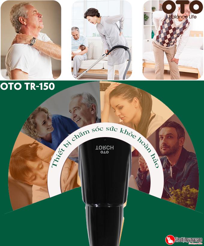 may massage cam tay oto Torch 5 - Máy massage cầm tay OTO TR-150 (Pin sạc) - Màu đen