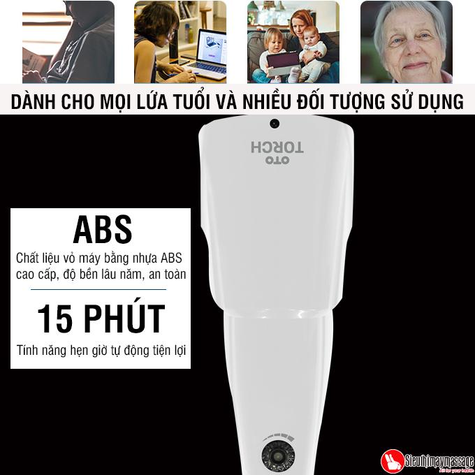may massage cam tay oto Torch mau trang 3 - Máy massage cầm tay OTO TR-150 (Pin sạc) - Màu trắng