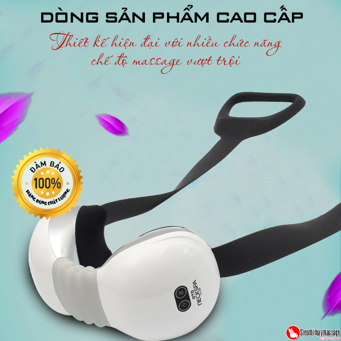 may massage co vai gay lung OTO Neck Spa white 6 - Máy massage cổ OTO Neck Spa NA-99 (màu trắng)