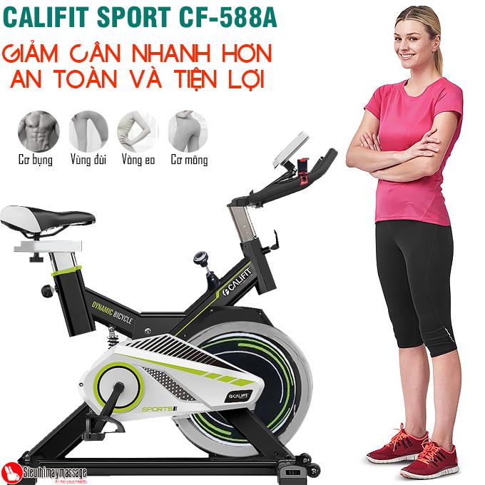 xe dap tap the dục CALIFIT SPORT CF 588 A 8 - Xe đạp tập thể dục CALIFIT SPORT CF-588A