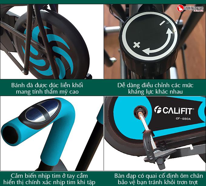 xe dap tap the duc tai nha califit cf 580 a 3 - Xe đạp tập thể dục tại nhà CALIFIT CF-580A