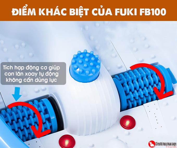 bon ngam chan nhat ban fuki xoay long ban chan tu dong 10 - Bồn ngâm chân Nhật Bản FUKI FB100 (thế hệ mới con lăn xoay tự động)