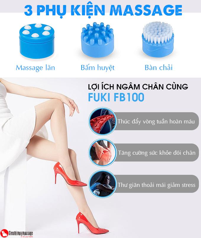bon ngam chan nhat ban fuki xoay long ban chan tu dong 13 - Bồn ngâm chân Nhật Bản FUKI FB100 (thế hệ mới con lăn xoay tự động)
