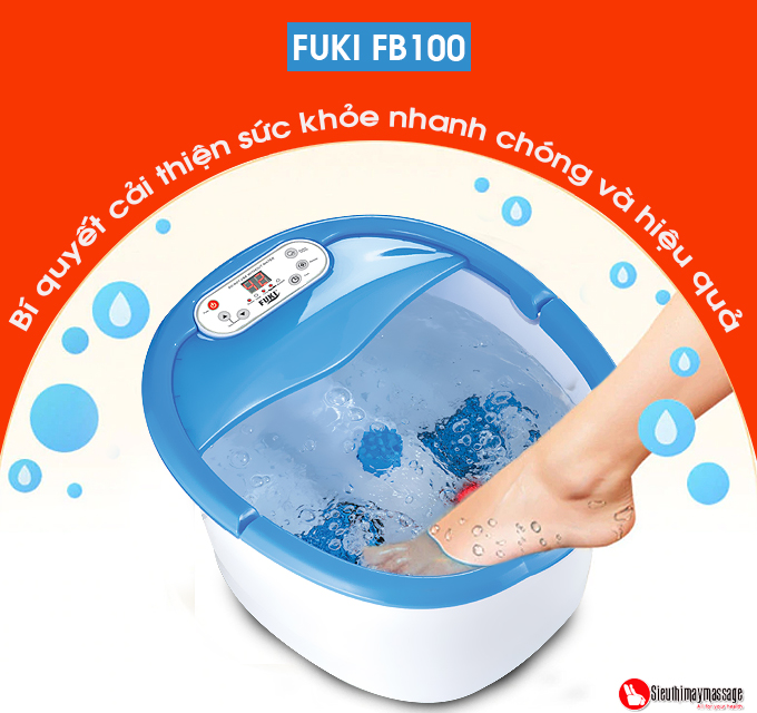 bon ngam chan nhat ban fuki xoay long ban chan tu dong 16 - Bồn ngâm chân Nhật Bản FUKI FB100 (thế hệ mới con lăn xoay tự động)