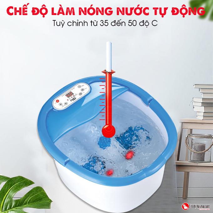 bon ngam chan nhat ban fuki xoay long ban chan tu dong 18 - Bồn ngâm chân Nhật Bản FUKI FB100 (thế hệ mới con lăn xoay tự động)