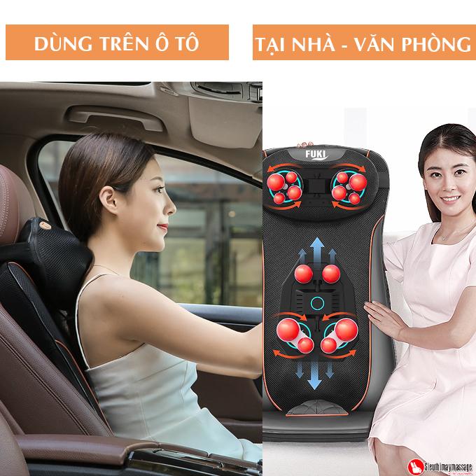 dem massage tai nha va oto fuki Luxury FK A 99 11 - Đệm Massage Tại Nhà Và Xe Ô TÔ Fuki 4D Luxury FK-A99