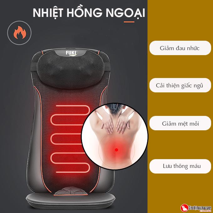 dem massage tai nha va oto fuki Luxury FK A 99 8 - Đệm Massage Tại Nhà Và Xe Ô TÔ Fuki 4D Luxury FK-A99