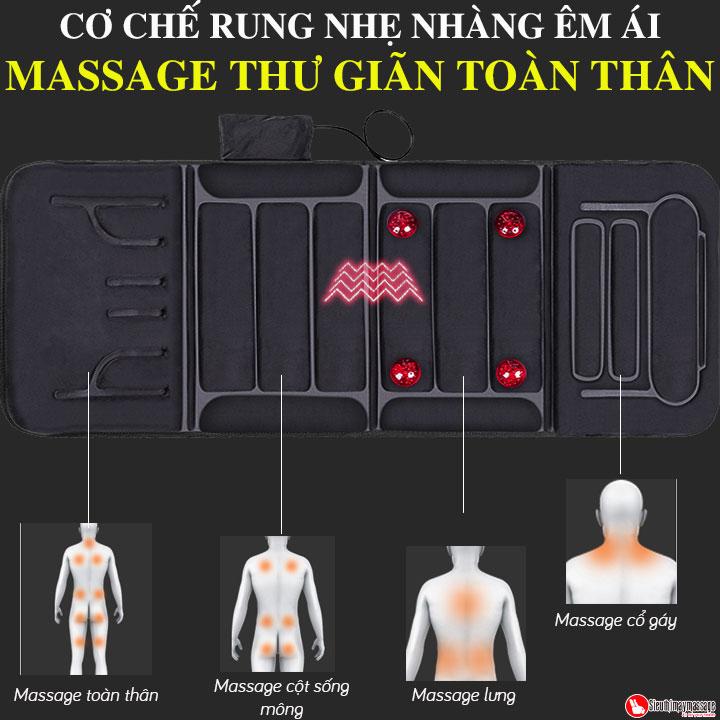 nem massage toan than fuki m 799 5 - Nệm massage toàn thân Fuki Japan FK-M799 (tích hợp nhiệt và đèn hồng ngoại)