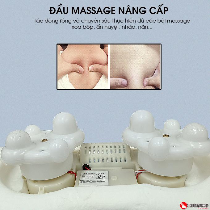 goi massage Shiatsu Fuki FK 568 16 - Gối massage hồng ngoại đau vai cổ lưng Shiatsu Fuki FK-568