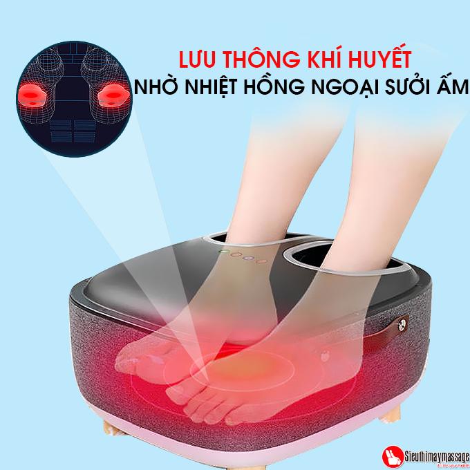 may massage chan OTO QS 88 mau xam 7 - Máy massage chân QSeat OTO QS-88 (màu xám)