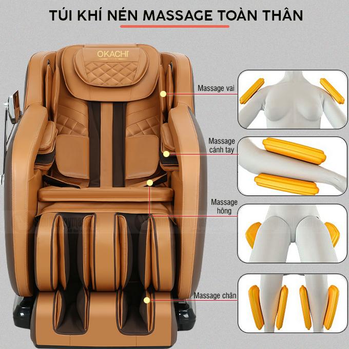 ghe massage toan than okachi luxury jp i 79 7 - Ghế massage toàn thân OKACHI Luxury JP-I79