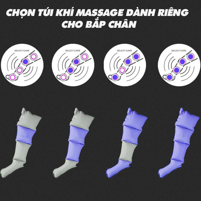 may massage chan okachi jp 2000 6 - Máy nén ép trị liệu suy giãn tĩnh mạch OKACHI LUXURY JP-2000