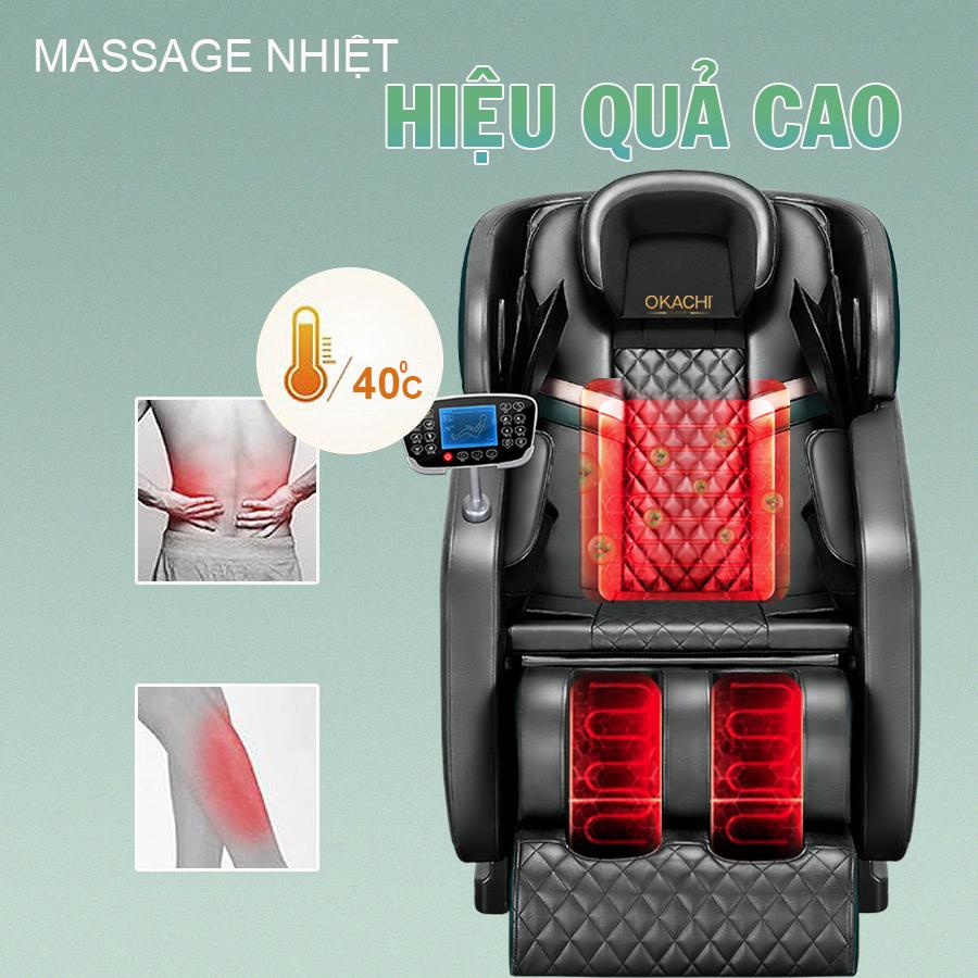 ghe massage okachi Luxury Star JP I 9 xanh 10 - Ghế massage toàn thân OKACHI LUXURY Star JP-I9 (xanh)