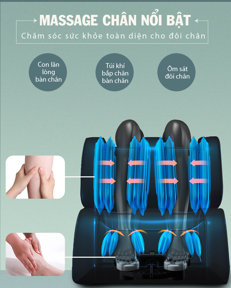 ghe massage okachi Luxury Star JP I 9 xanh 12 - Ghế massage toàn thân OKACHI LUXURY Star JP-I9 (xanh)